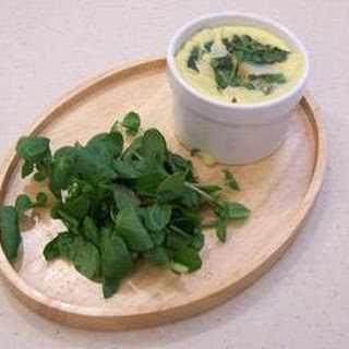Poached Haddock With Spinach Custard.