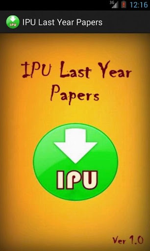 IPU Last Year Papers