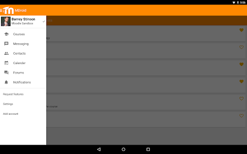 MDroid - Moodle mobile app - screenshot thumbnail