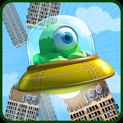 Flappy Alien Free 8bit Game