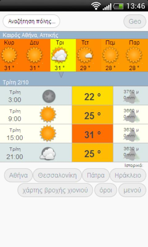 Καιρος - Meteo kairos .com- screenshot