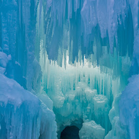 Details at the Ice Castles by Heather Diamond - Buildings & Architecture Architectural Detail ( winter, cold, blue, ice castles, ice, snow, colorado, white, breckenridge, light )