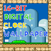 16 Bit Digital Clock Wallpaper
