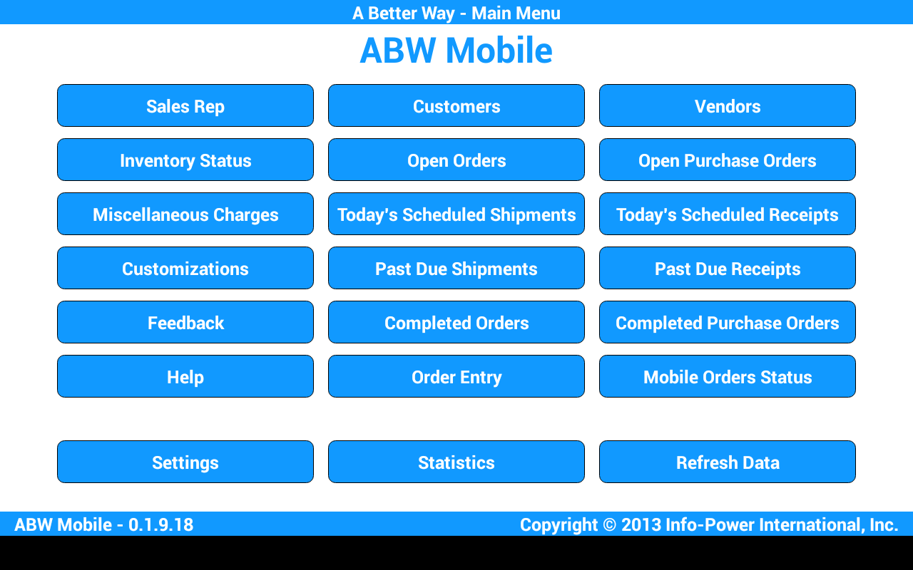 ABW Mobile- screenshot