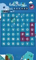 Screenshot of bohoFriends words