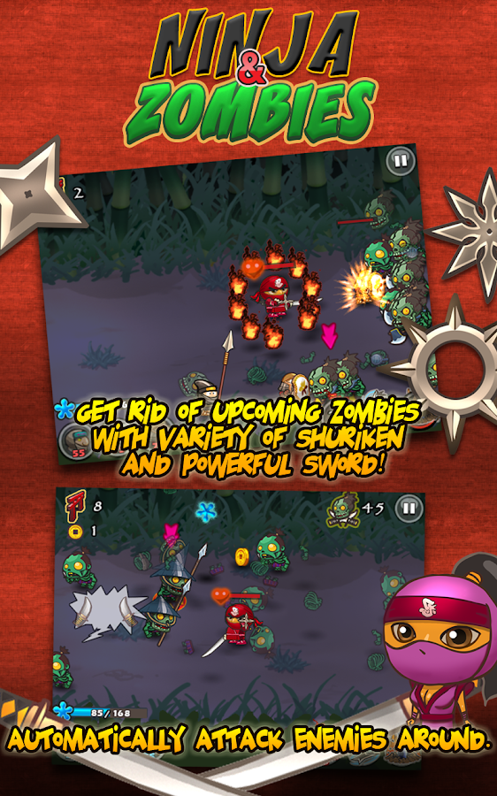 Ninja and Zombies- screenshot