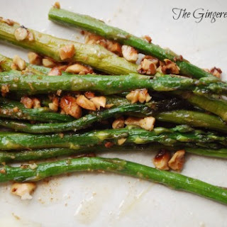 Roasted Asparagus with Brown Butter and Hazelnuts