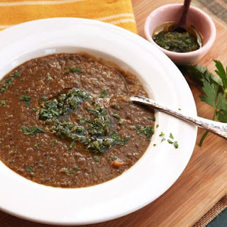 Easy Lentil Soup With Lemon Zest, Garlic, and Parsley