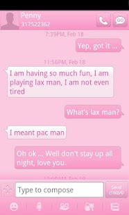 Pink GO SMS Theme- screenshot thumbnail