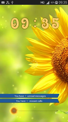 Sunflower HD GO Locker Theme