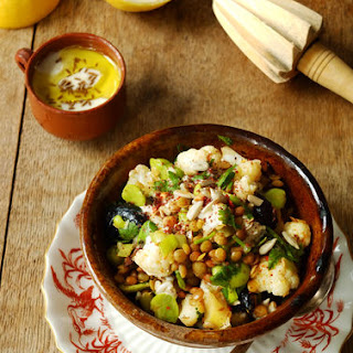 Broad Bean&Cauliflower salad with Cumin Yogurt