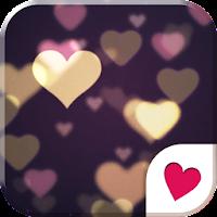 Cute wallpaper★bokeh hearts 1.1