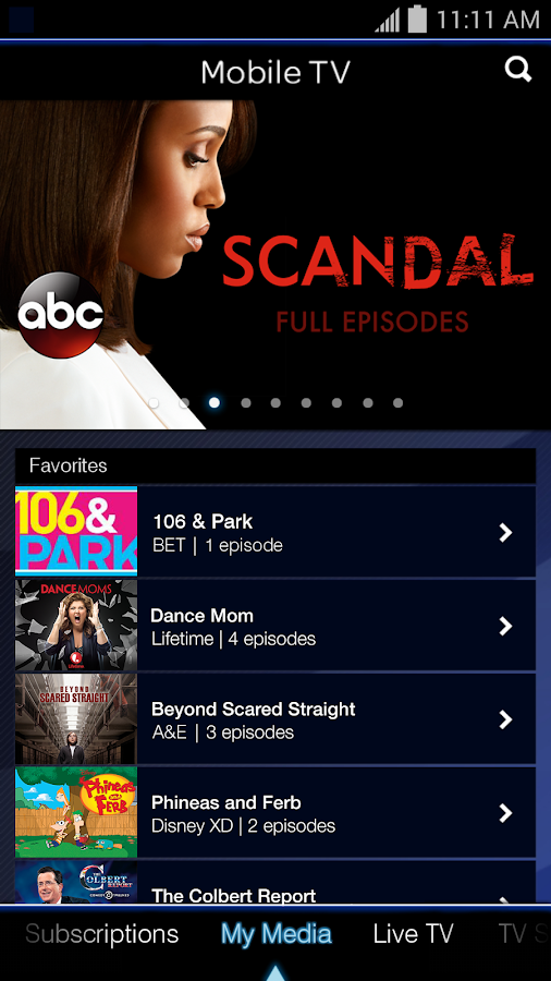 Mobile TV - screenshot