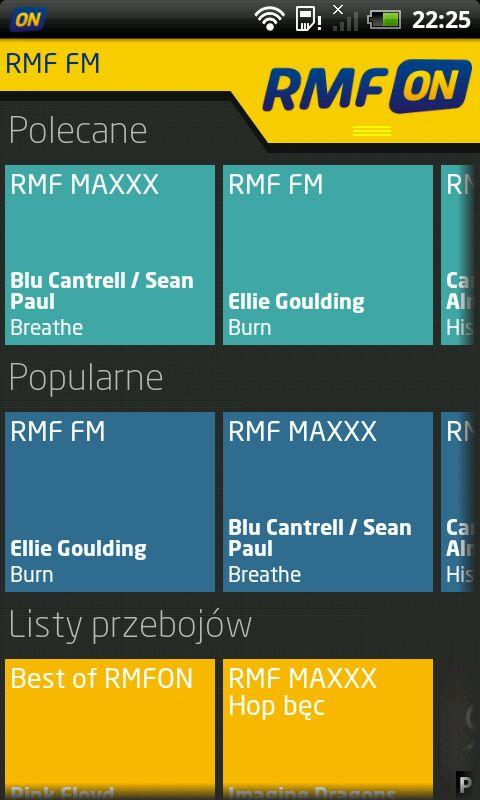 RMFon.pl (Internet radio) - screenshot