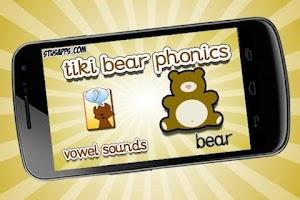 Screenshot of Tiki Bear Phonics Vowel Sounds