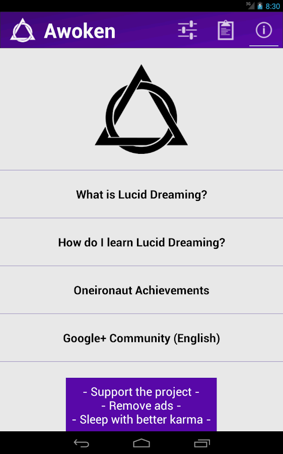 Awoken - Lucid Dreaming Tool - screenshot