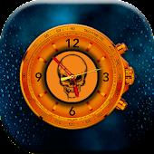 Skull Clock Live Wallpaper