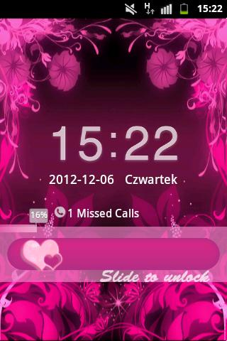 GO Locker Theme Pink Flowers- screenshot