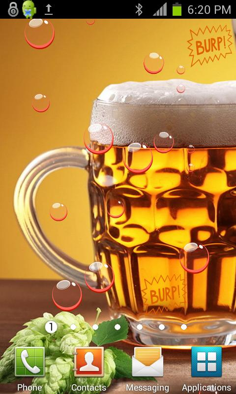 Drink Beer HD Live Wallpaper - screenshot