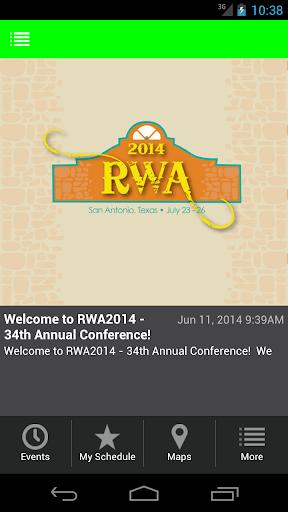RWA2014 Conference San Antonio