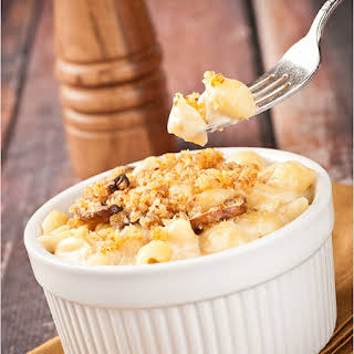 Baked Truffle Macaroni and Cheese.
