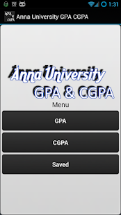 Anna University GPA CGPA - screenshot thumbnail