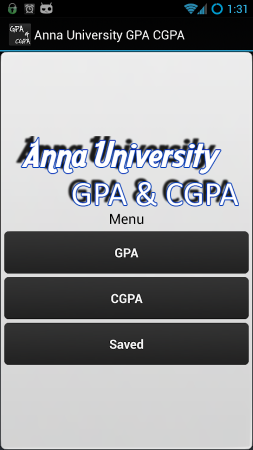 Anna University GPA CGPA - screenshot