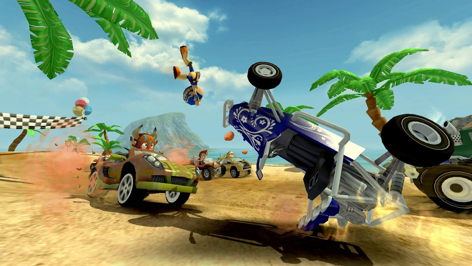 Screenshots of Beach Buggy Racing for iPhone