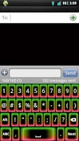 Screenshot of Neon Glow v2 Keyboard Skin
