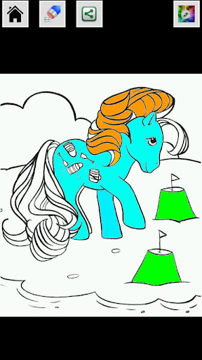 【免費娛樂App】Pony Coloring book-APP點子