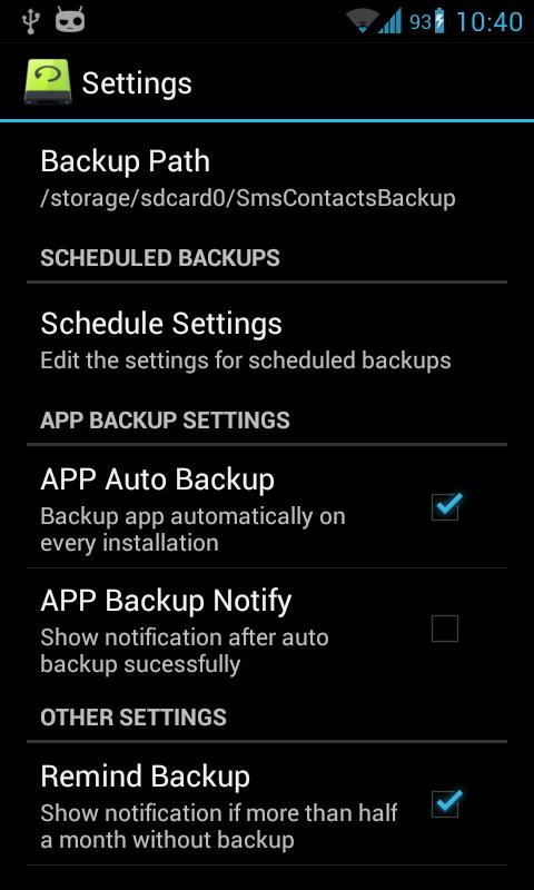 Super Backup Pro: SMS&Contacts - screenshot