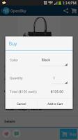 Screenshot of OpenSky Shopping