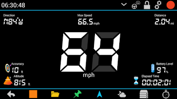 Screenshot of GPS HUD Speedometer Plus