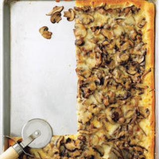Mushroom and Garlic Pizza.
