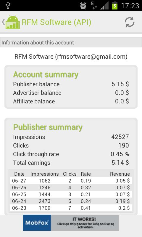 MyRevenues - screenshot