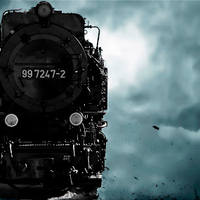Pole express . by Georgios Kalogeropoulos - Transportation Trains ( winter, pole, snow, train, express )