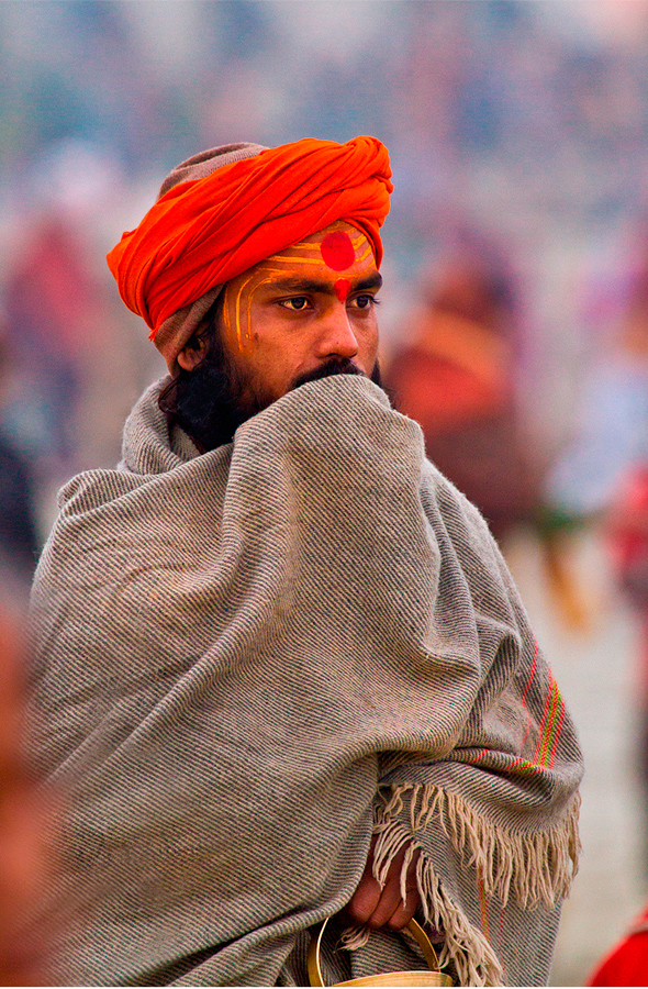 Holy men of India#1. by Vivek Singh - People Portraits of Men ( religion, saffron, hindu, sadhus, india )