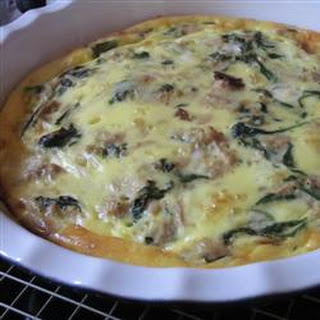 Cindy's Tuna, Spinach, and Bacon Quiche