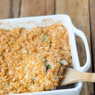Cheesy Broccoli Chicken and Rice Casserole.