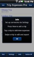 Screenshot of Trip Expenses Pro