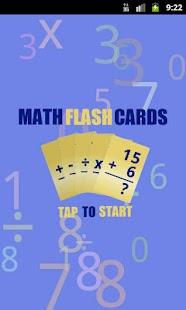 Flash Cards: Math screenshot