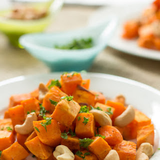 Baked Sweet Potato with Cashew.