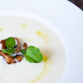 Cauliflower Shiitake Soup With Truffle Oil.