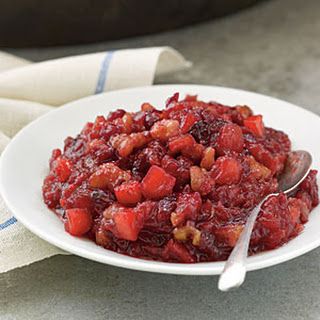 Cranberry, Apple, and Walnut Sauce