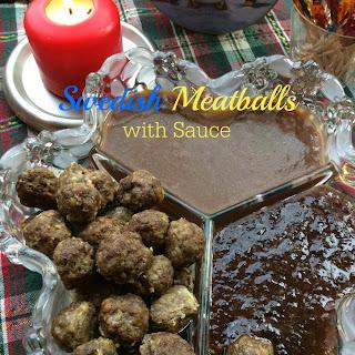 Swedish Meatballs with Sauce.