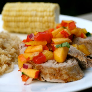 Pork Tenderloin with Peach Salsa.