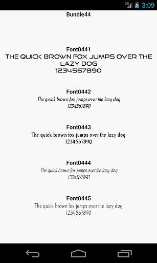 Fonts for FlipFont 44