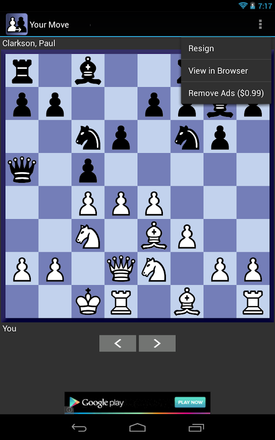 Your Move Correspondence Chess- screenshot