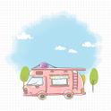 CUKI Theme Travel illust logo
