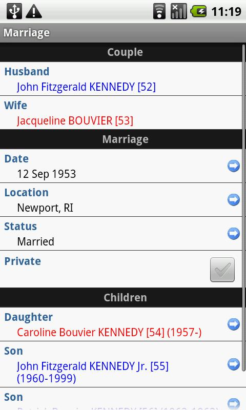 Families - screenshot